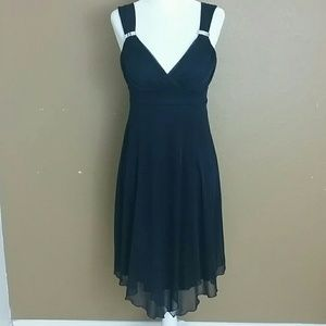 EnFocus studio chiffon dress Navy Blue size 4